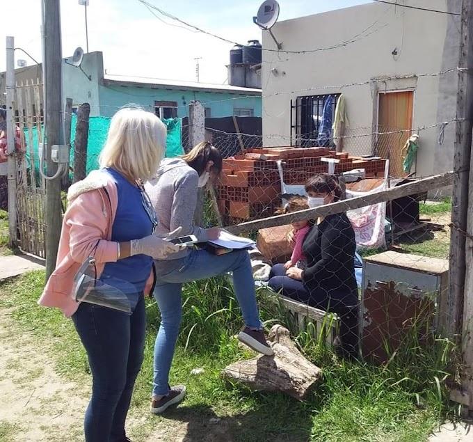 Censaron a vecinas y vecinos del barrio Eva Perón