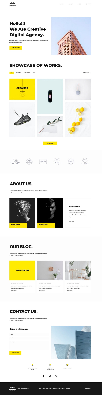 Portfolio Landing page Template