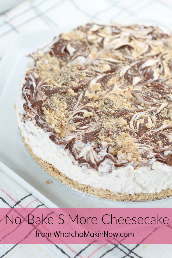 No-Bake S'More Cheesecake - best dessert and so easy to make!