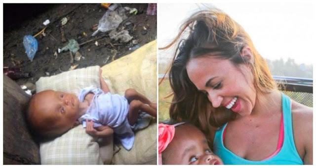 Сара нашла малышку в пустом доме на грязном полу и спасла ее. Теперь посмотрите на девочку спустя два года!
