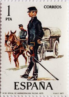 OFICIAL DE ADMINISTRACIÓN MILITAR 1875