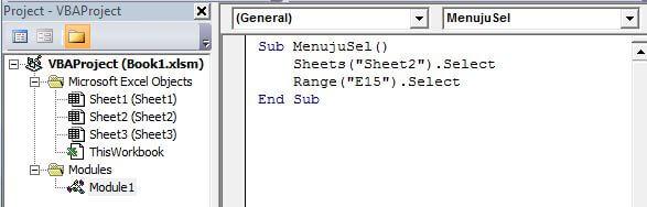 module dalam macro vba