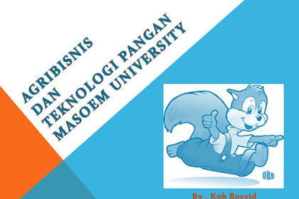 Agribisnis dan Tekonologi Pangan Masoem University