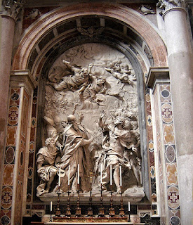 Algardi's extraordinary marble relief, Fuga d'Attila, which he created for St Peter's Basilica in Rome