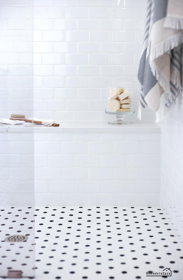 Hex tile in bathroom