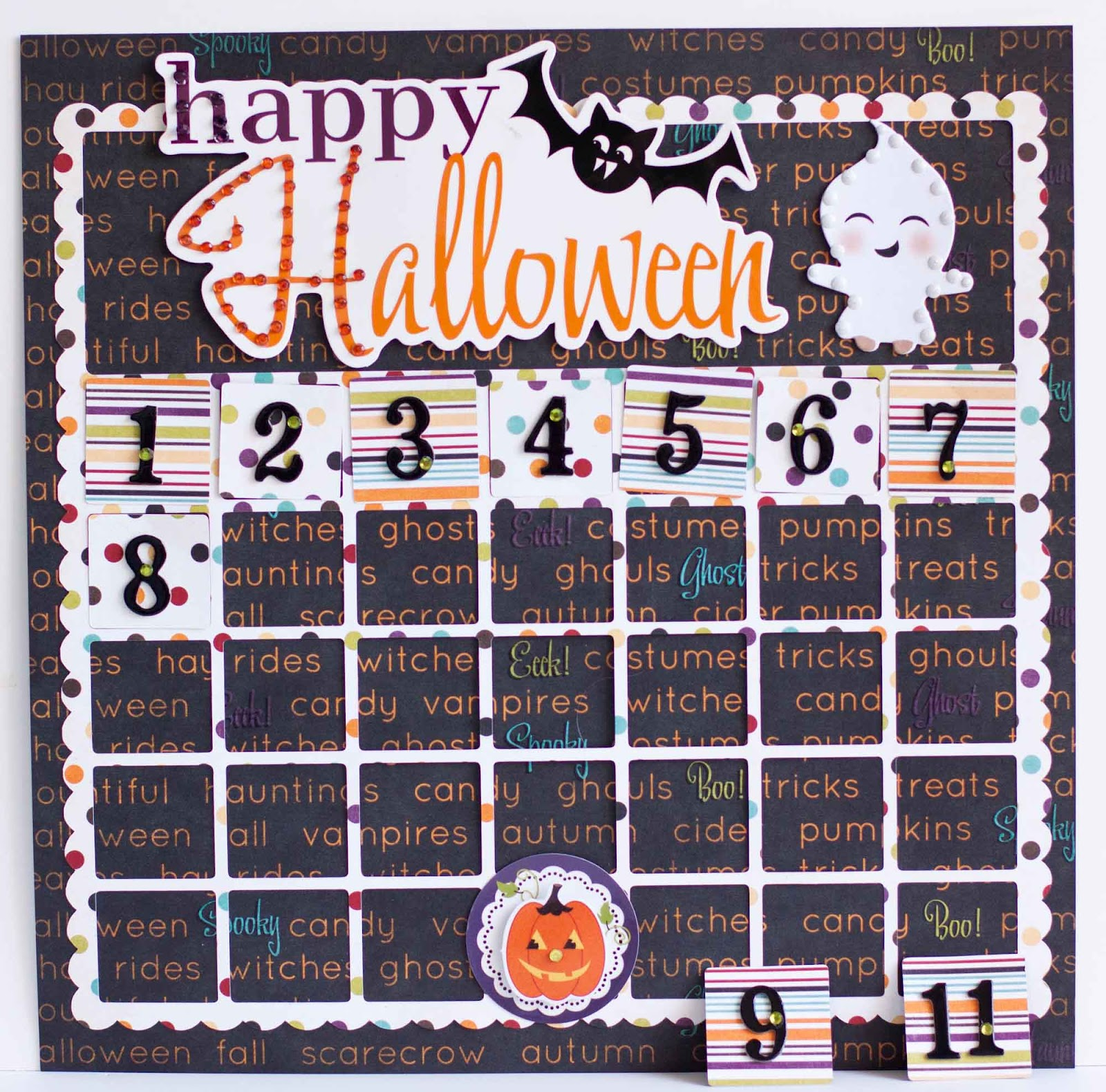 I Cut The Calendar Shape With My Cameo Then Flipped Half Of The Date Squares Over Added Numbers And Removable Them O Web Zots To The Back And I Rock Bling