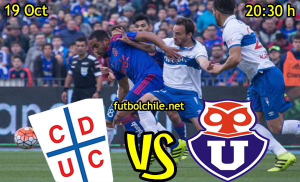Ver stream hd youtube facebook movil android ios iphone table ipad windows mac linux resultado en vivo, online:  Universidad Católica vs Universidad de Chile