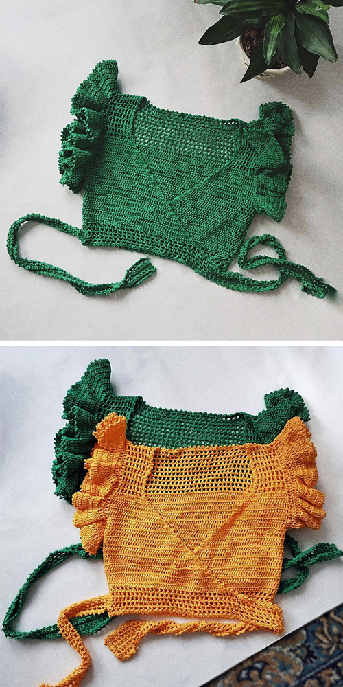 Carolina Wrap Top - Crochet Pattern
