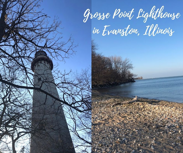 History and Views at Grosse Point Lighthouse in Evanston, Illinois