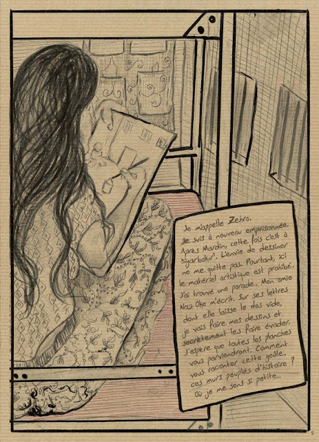"""page de """"PRISON N°5"""" de Zehra Dogan chez Delcourt"""