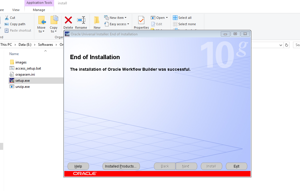 Vishobh's Blog: Oracle Workflow Client Installation on Windows 10