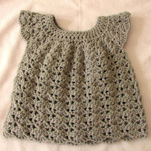 Shell Stitch / Girl's Dress - Tutorial