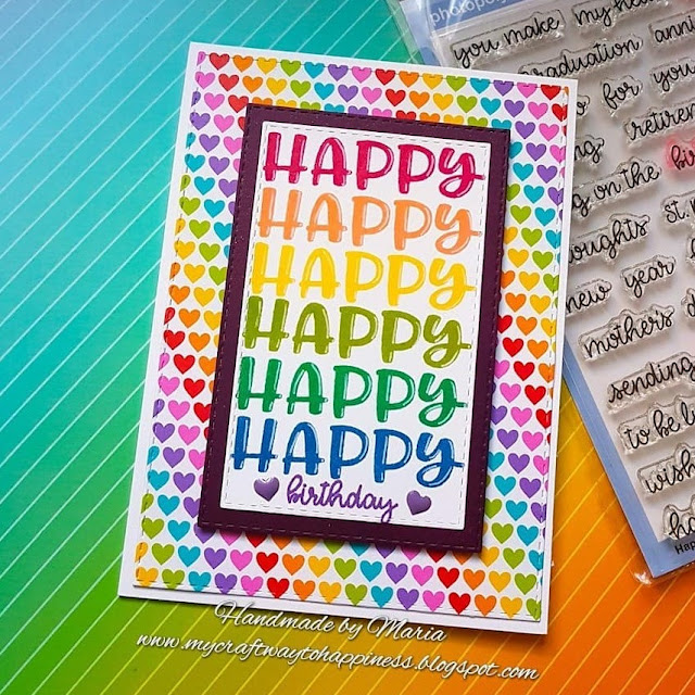 Sunny Studio Stamps: Happy Thoughts Customer Card by Maria Rudolph