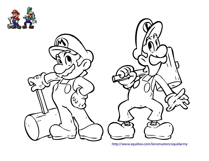 Mario Coloring Pages - Squid Army