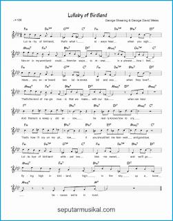 chord lullaby of birdland lagu jazz standar