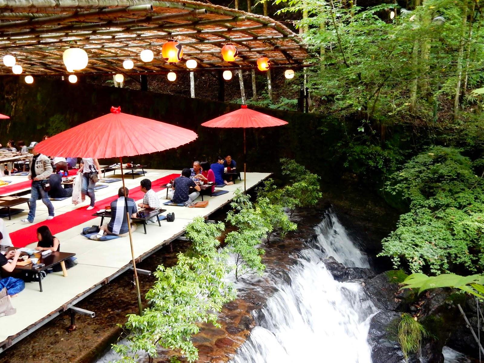 Lunch On a Waterfall in Kibune