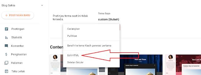 Pilih Edit HTML