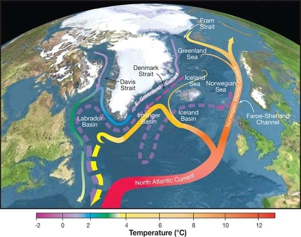 Sluggish ocean currents caused European heat wave some 12,000 years ago