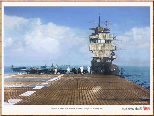 Japanese aircraft carrier Akagi, 26 March 1942 worldwartwo.filminspector.com
