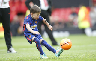 Wayne Rooney's six year old son Kai Rooney