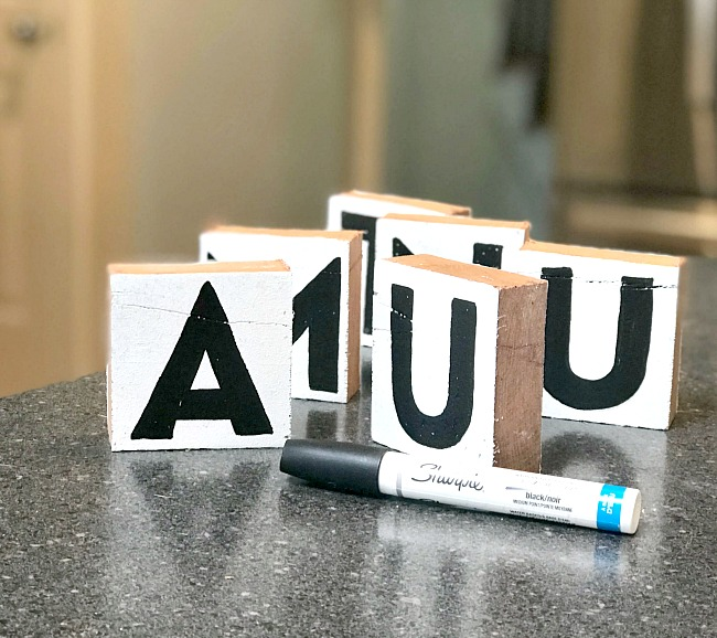 Farmhouse Style Rustic Letter Blocks for the mantel