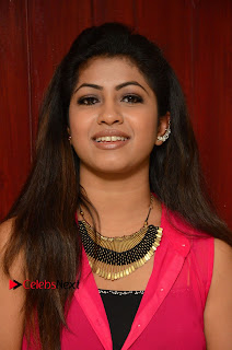 Actress Geethanjali Pictures in Pink Dress at Avanthika Movie Opening 0005