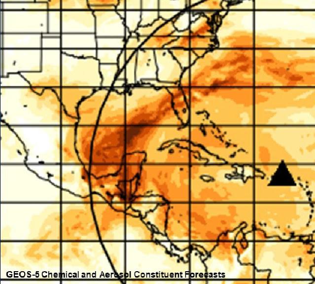 Gases del volcán en erupción de la Isla de San Vicente cruzarán Yucatán