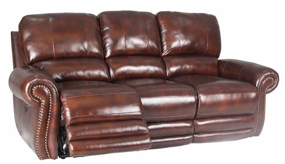 Dual Reclining Leather Sofa Cau D Ax