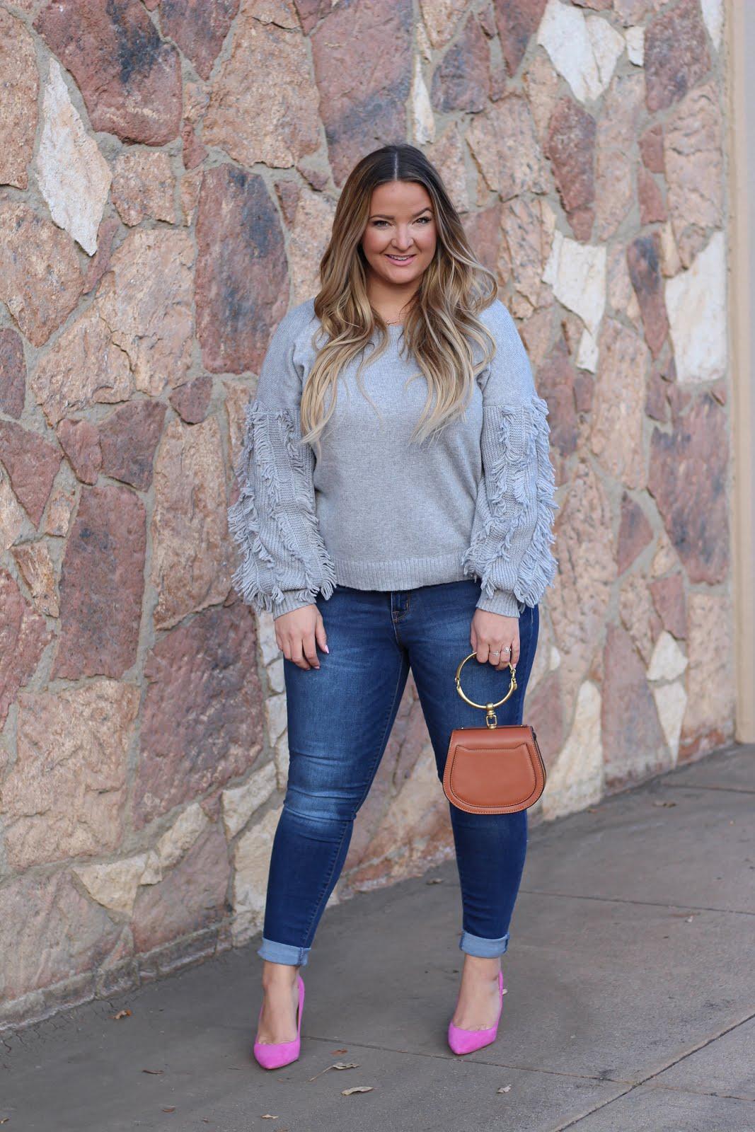 Shag Sweater by popular Denver fashion blogger Delayna Denaye