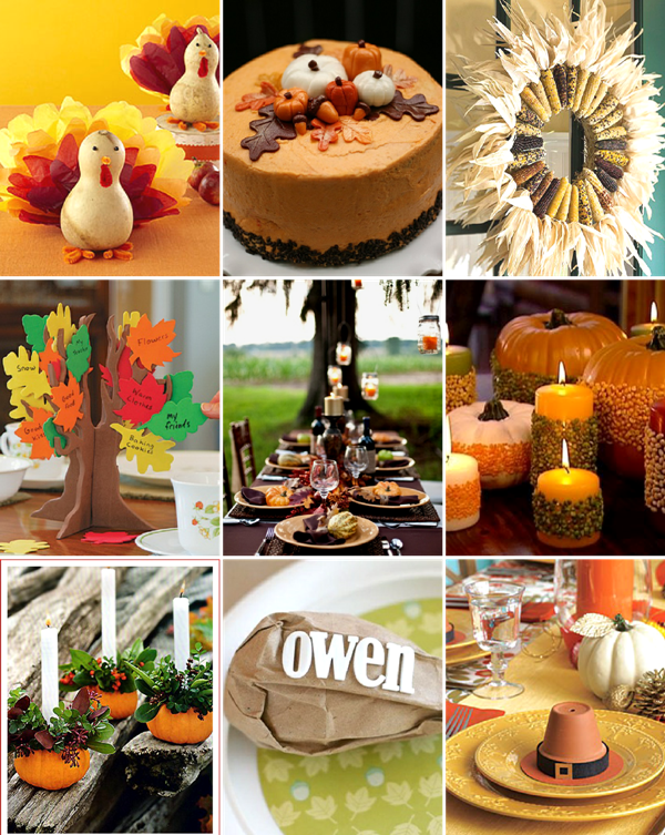 Last Minute Thanksgiving Party & DIY Ideas - via BirdsParty.com