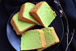 Resep Dan Cara Membuat Kue Pandan Sponge Cake Tanpa Emulsifier & Pengembang