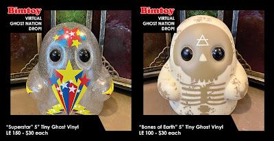 New York Comic Con 2020 Exclusive Tiny Ghost Vinyl Figures by Reis O'Brien x Bimtoy x Bottleneck Gallery