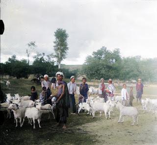 kambing domba dan pria juga anak anak pangururan