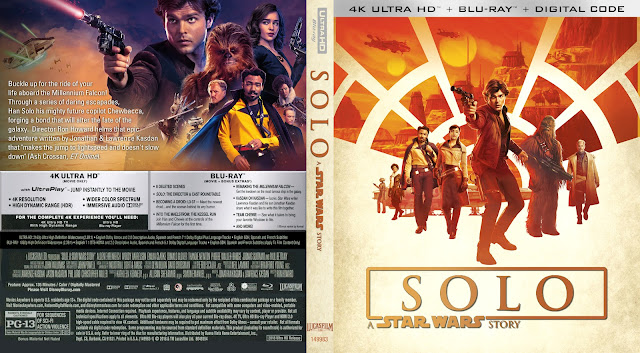 Solo: A Star Wars Story 4k Bluray Cover