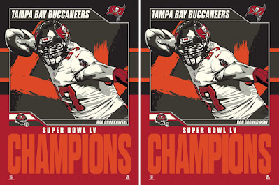 Tampa Bay Buccaneers Super Bowl LV NFL Champions Rob Gronkowski (Gronk) Screen Print by Fitz x Phenom Gallery