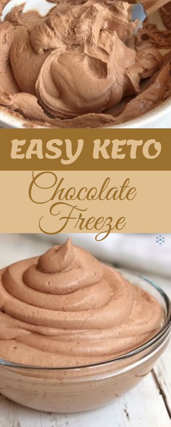 Easy Keto Chocolate Frosty #healthy #recipe