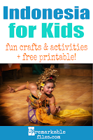 Learning about Indonesia and Bali is fun and hands-on with these free crafts, ideas, and activities for kids! #indonesia #bali #educational