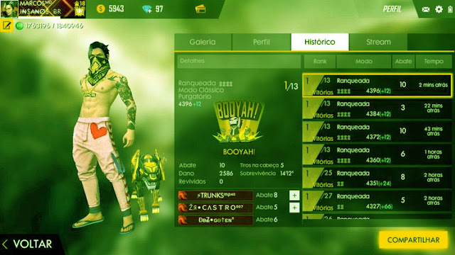 A Free Fire Pro ID Often Has Impressive Statistics, A High Tier, And A High Position In The Leaderboard.