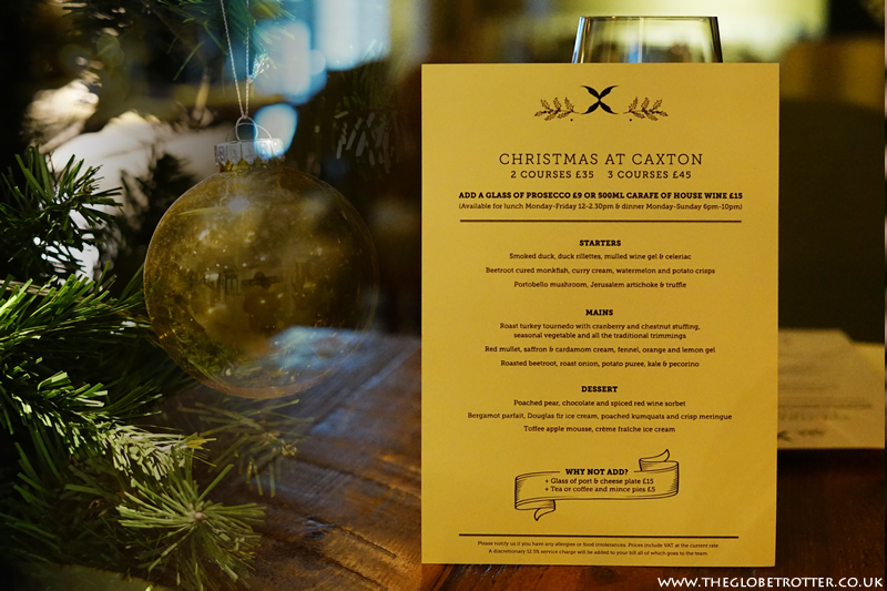 Caxton Grill Restaurant's Christmas Menu Review