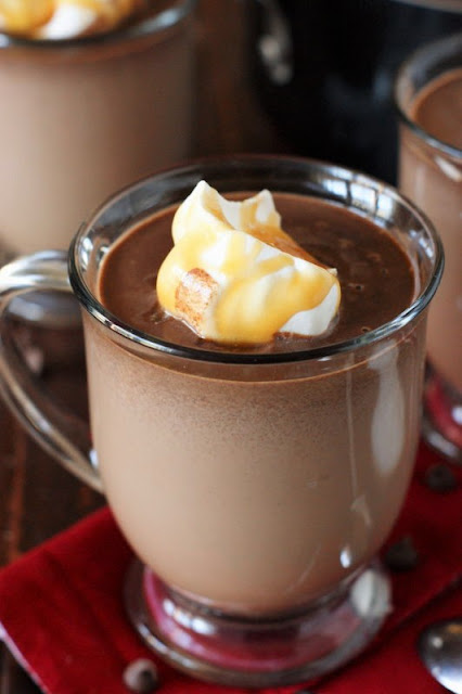 Salted Caramel Hot Chocolate Topped with Whipped Cream Image