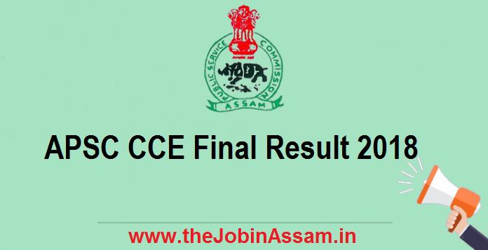 APSC CCE Final Result 2018
