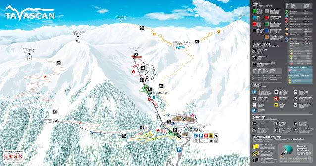 Mapa de pistas de Tavascán