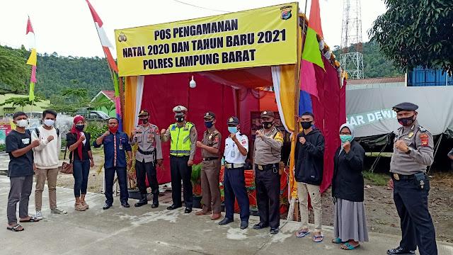 Jelang Natal 2020 & Tahun Baru 2021, Polres Lampung Barat Dirikan Pos Pengamanan