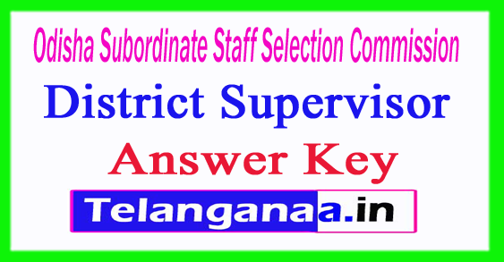 OSSSC District Supervisor Answer Key 2018