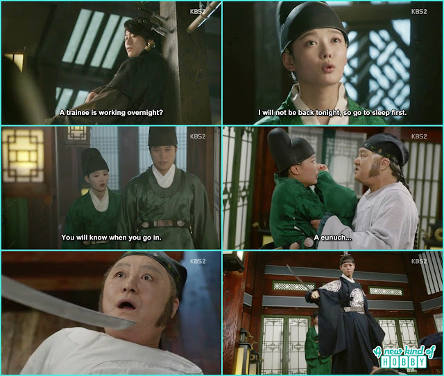 Eunch Jang sent Ra on on a night duty at Qing room, crown price came and save ra on - Love in The Moonlight - Episode 6 Review