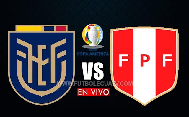 Ecuador se enfrenta a Perú en vivo y en directo por la fecha 3 de la Copa América 2021, desde las 16:00 hora local a jugarse en el campo Olímpico Pedro Ludovico. Con transmisión de DirecTV Sports  y TC mi Canal, siendo el juez español principal Jesús Gil Manzano.