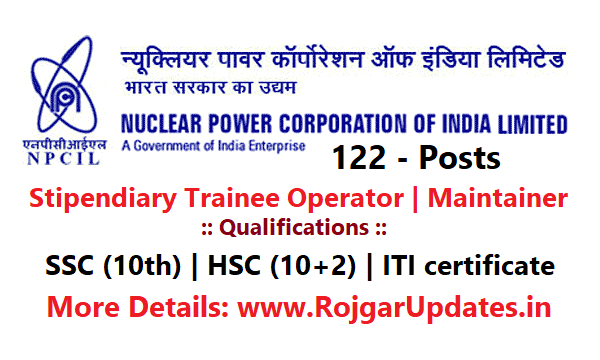 NPCIL Recruitment 2018 for Stipendiary Trainee