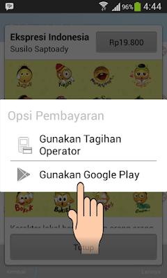 Cara Membeli Stiker Keren BBM Menggunakan Pulsa di Android