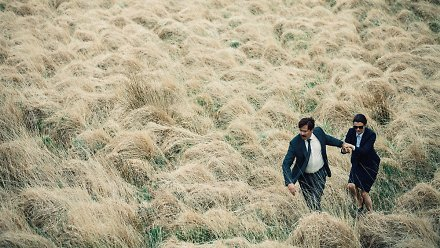 "Colin Farrell & Rachel Weisz in ""The Lobster"""