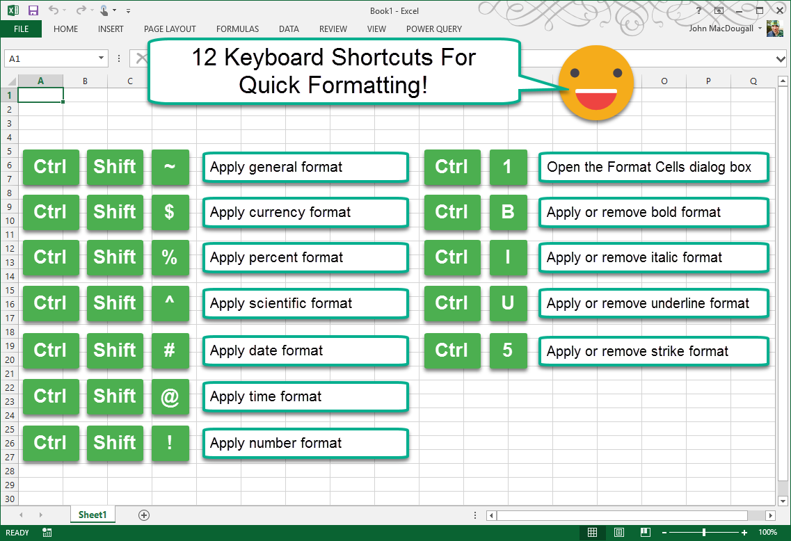 Advanced Excel Shortcuts